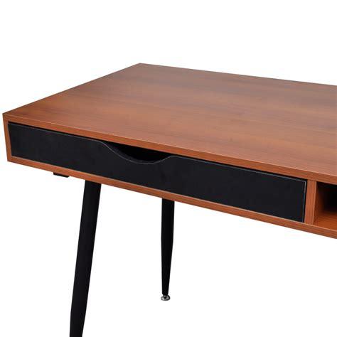 computer desk workstation brown workstation computer desk laptop table vidaxl