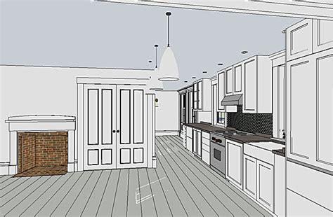 oreos design portfolio sketchup kitchen cap n davis residence b griffin archinect