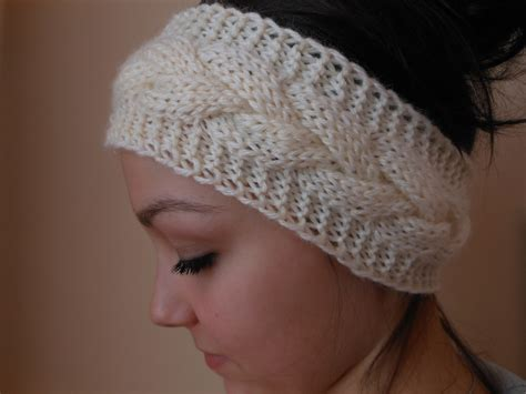 knitting pattern ear warmer headband knit cable headband ear warmer warmer