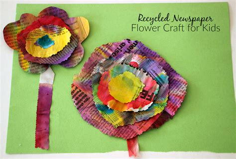 recycled newspaper crafts for watercolor recycled newspaper flower craft where