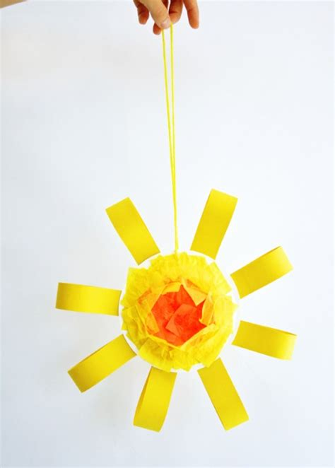 paper plate sun craft one charming birthday ideas summer crafts