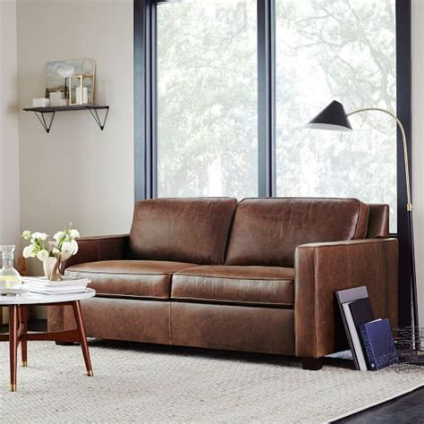 west elm leather sofa henry 174 leather sofa molasses west elm
