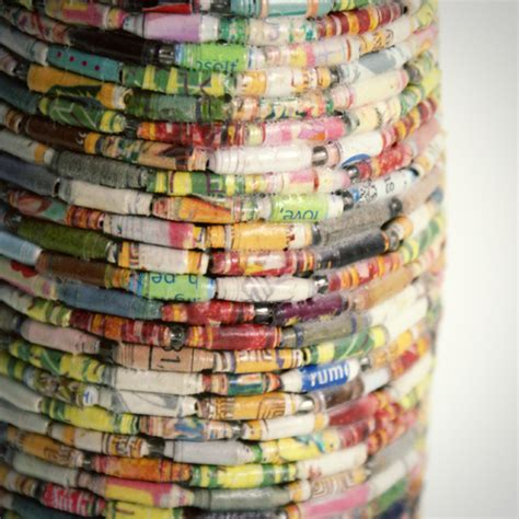 Recycled Crafts Using Magazine Pages