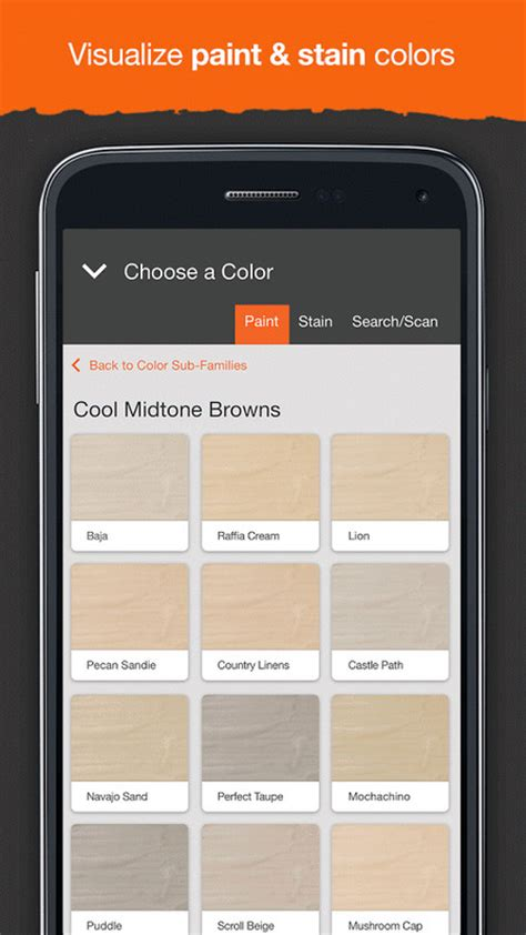 home depot paint iphone app project color the home depot apk free android app