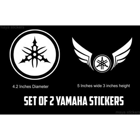 Modified Bike Logos by Yamaha Logo Stickers For Yamaha Motorcycles And Scooters India
