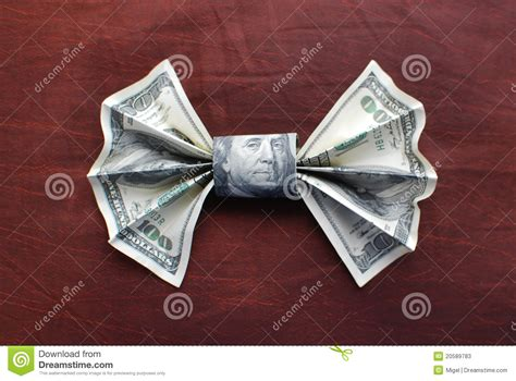 origami dollar bill bow tie origami bow tie stock photos image 20589783