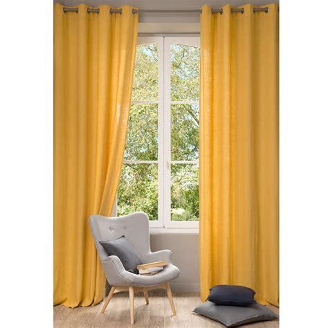 rideau en lav 233 jaune 130 x 300 cm maisons du monde