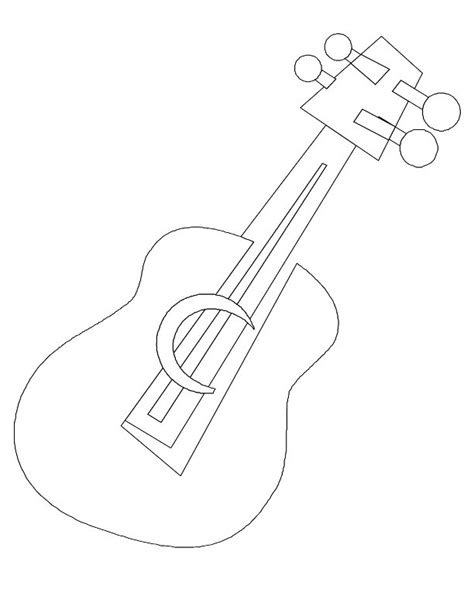 free coloring pages of guitar template