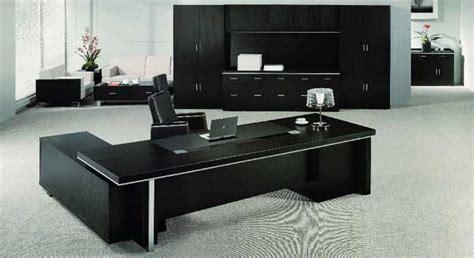 black office desk modern executive office furniture trends