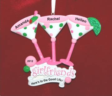 friendship ornaments three best friends cosmopolitans if you