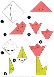 medium level origami how to make an origami tulip step by step