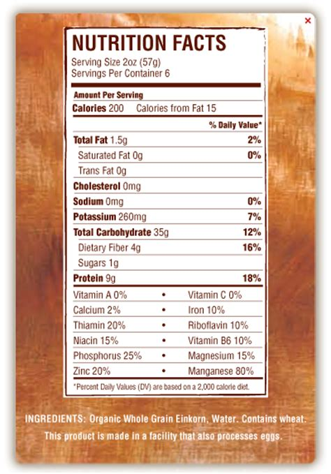 Garden Delight Pasta by Barilla Pasta Nutrition Facts