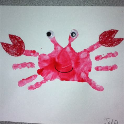 handprint crafts for handprint crab craft for pre schoolers crafty things