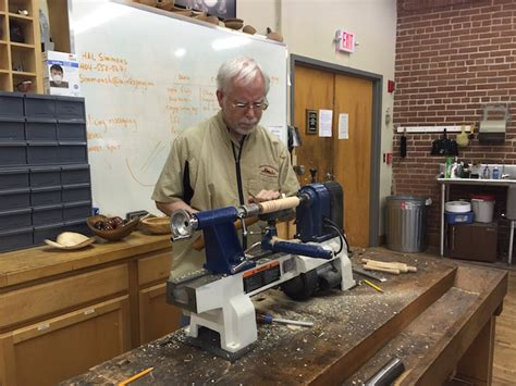woodworking demonstrations topping a turning lesson woodworking