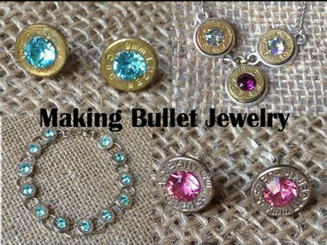 how to make bullet jewelry bullet jewelry tutorial 9mm post earrings made from once