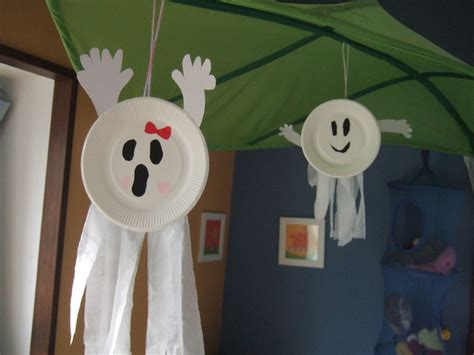 paper plate ghost craft easy construction paper crafts for papercraft