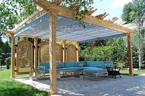 pergola with retractable shade retractable pergola canopy in oakville shadefx canopies