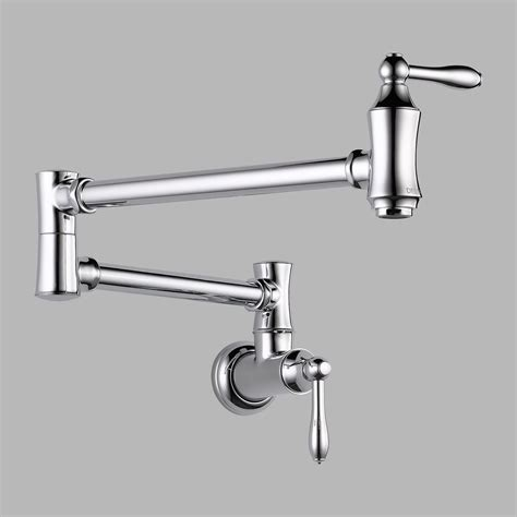delta wall mount kitchen faucet delta 1177lf pot filler faucet wall mount chrome ebay