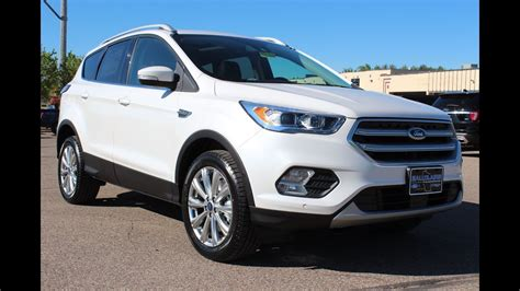 White Ford by 2017 Ford Escape Titanium In White Platinum At Eau