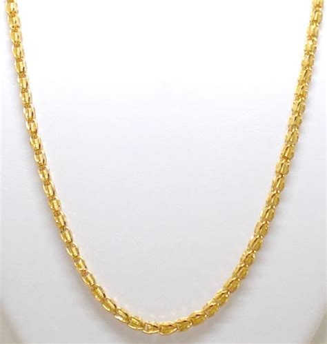 how to make neck chain with ref 015 one x 18ct yellow gold fancy neck chain