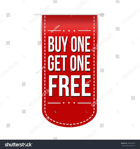 Buy One Get One Free Banner Design A White Background
