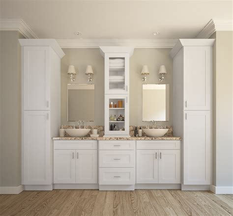 White Bathroom Cabinets by Aspen White Shaker Ready To Assemble Bathroom Vanities
