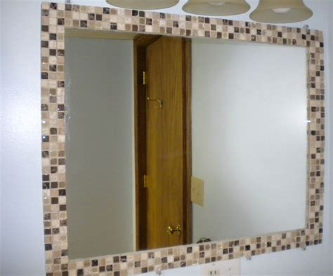 borders for bathroom mirrors diy mosaic tile mirror border kid s bathroom