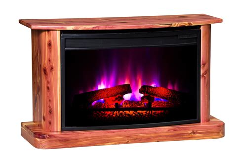 furniture electric fireplace rustic cedar electric fireplace from dutchcrafters amish