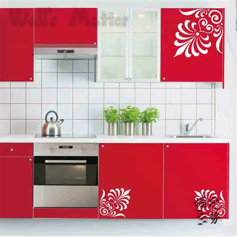 kitchen cabinet decals removable vinyl paper decal decor fashion decorative