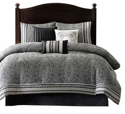 luxury comforter sets california king california king size 7 comforter set black white