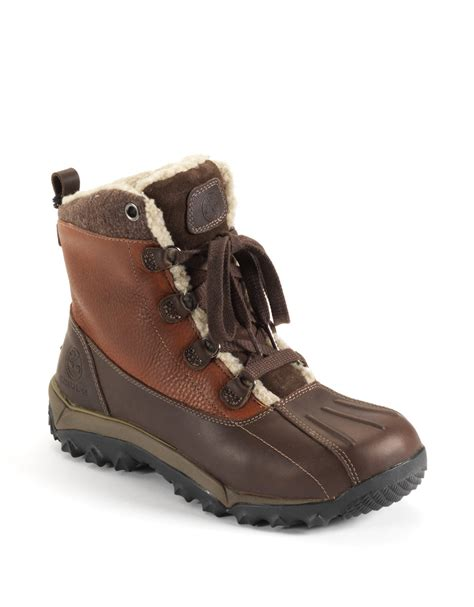 leather hiking boots s timberland woodbury leather hiking boots in brown for