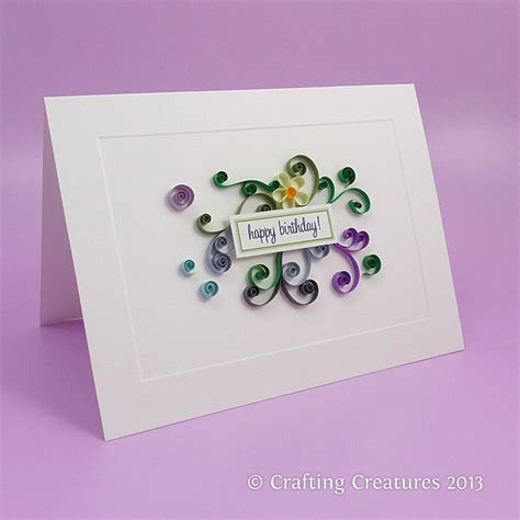 quilling card quilling crafting creatures
