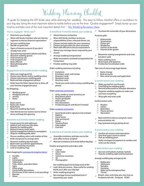 planning checklist printable wedding planning checklist for diy brides