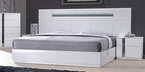 bedroom furniture sets white monte carlo king size white lacquer chrome 5pc bedroom
