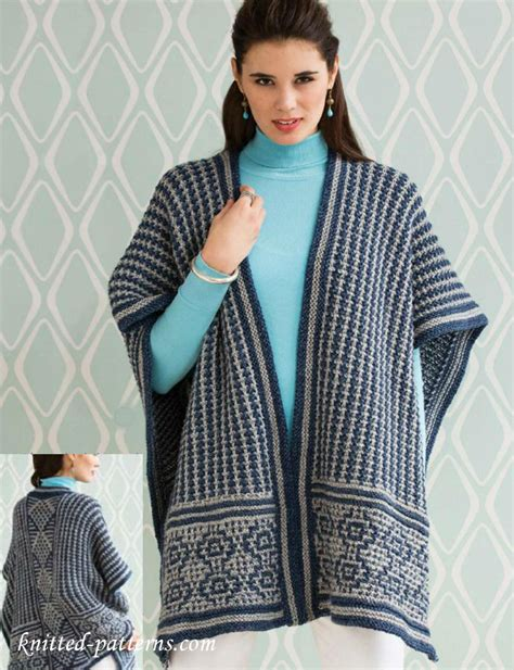 free knitted poncho patterns poncho knitting pattern free