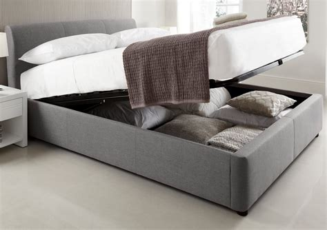 king size bed frame with storage modern gray padded king size platform bed frame with