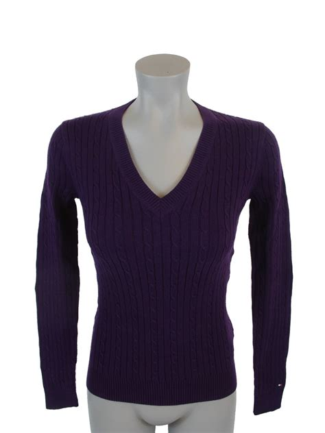womens cable knit sweaters new nwt hilfiger womens cable knit cotton sweater ebay