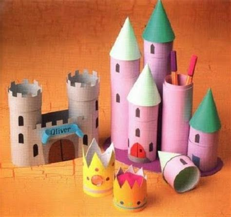 toilet paper roll castle craft paper roll castles crafts