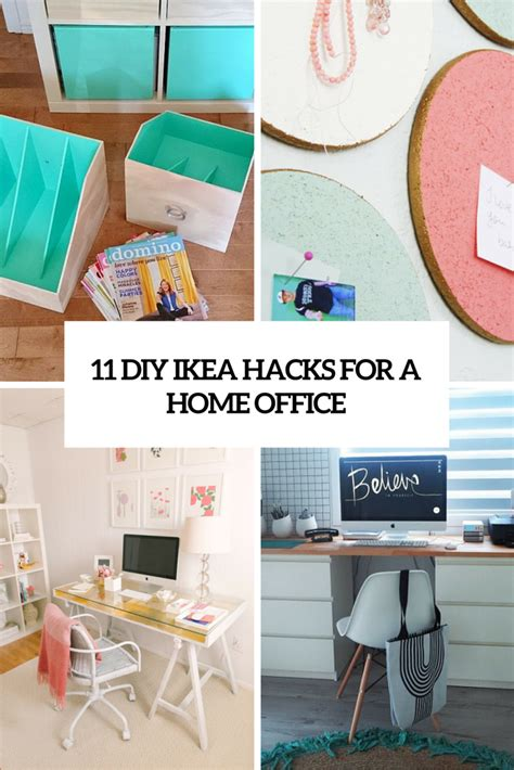 ikea hacks office 11 exciting ikea hacks for any home office shelterness