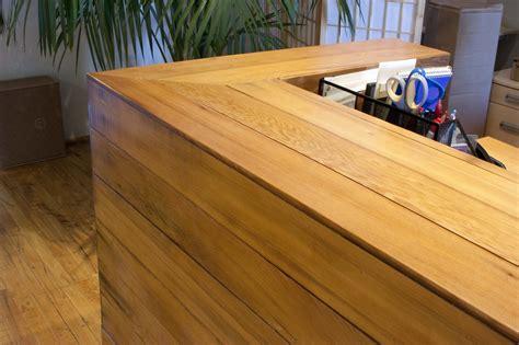 custom woodworking san francisco reception desk for san francisco startup bay area custom