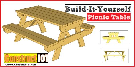free picnic table plans traditional picnic table plans pdf construct101