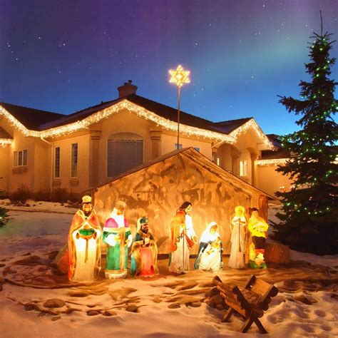 outdoor decorations on outdoor decorations nativity decorating