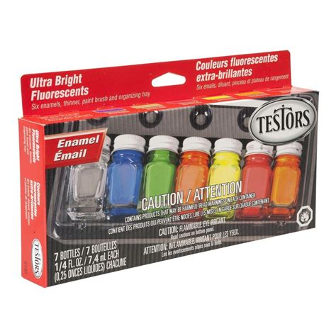 neon paint colors home depot testors 0 25 oz 6 color fluorescent enamel paint set 6