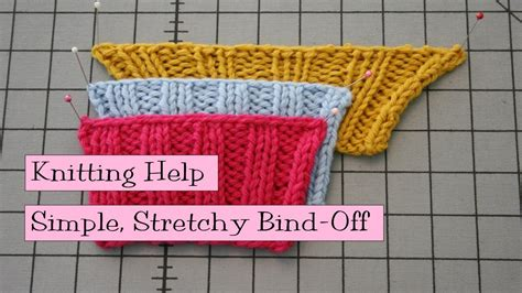 how to bind in knitting simple stretchy bind