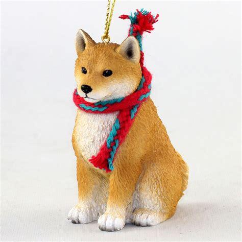 ornaments by breed shiba inu ornament scarf figurine