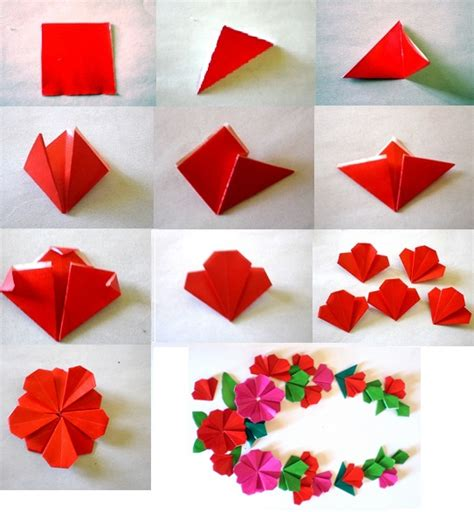 steps to make origami flower 5 easy diy papercraft ideas 3d origami quilling