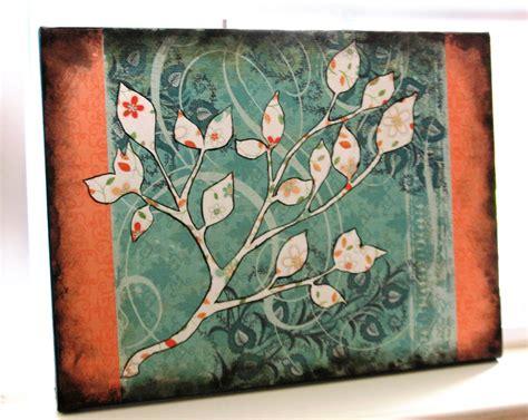 mod podge acrylic paint on canvas grow creative modge podge canvas tutorial