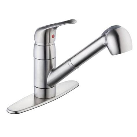 glacier bay pull kitchen faucet glacier bay 825 series single handle pull out sprayer kitchen faucet in stainless steel 67385