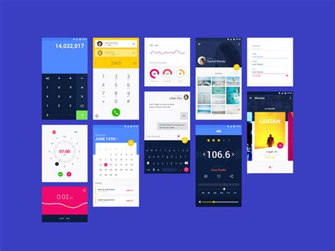 android app design android material design app templates free resources for