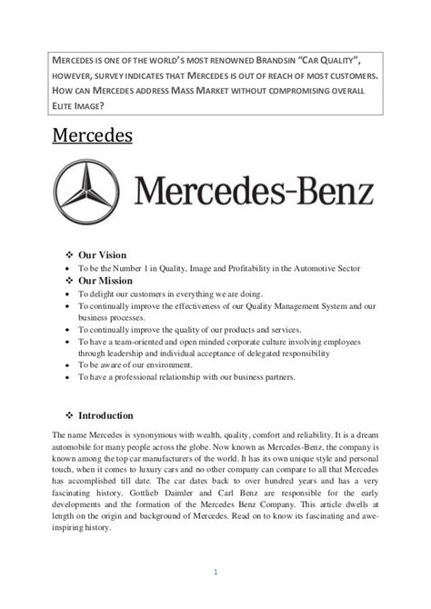 Mercedes Target Market by What Mercedes Could Do To Target The Middle Class Customer